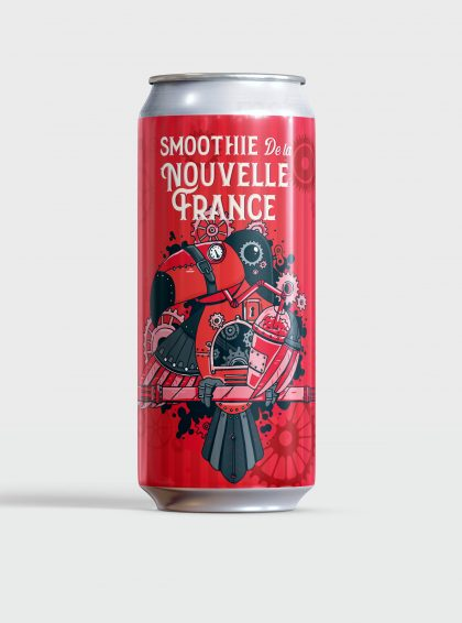 Smoothie de la Nouvelle-France / Framboises, Fraises et vanille