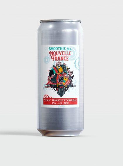 Smoothie de la Nouvelle-France - Fraise, Framboise et Cannelle